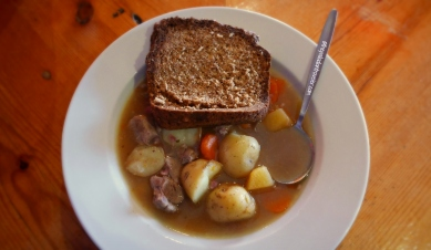 A bowl of piping-hot Irish stew, Kilkenny, Co. Kilkenny, Ireland