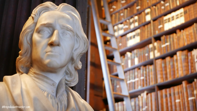Bust of John Locke in the Long Room, Trinity College, Dublin