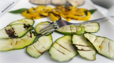 Grilled veggies at Torre Santa Sabina, Puglia, Italy